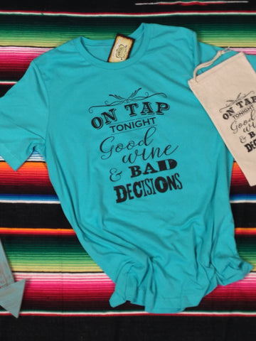 On Tap Tonight Turquoise Triblend Unisex Tee