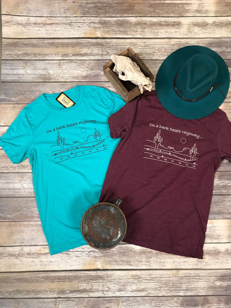Desert Highway Turquoise Triblend Unisex Tee