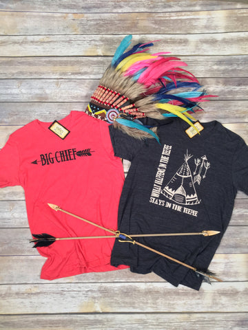Big Chief Tee in Red Unisex Triblend
