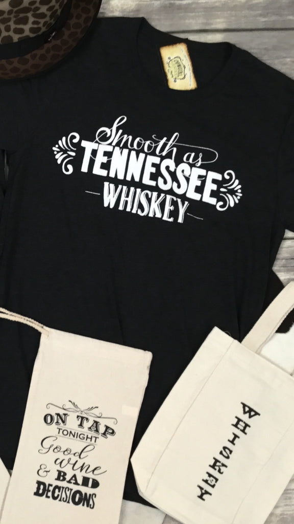 Smooth as Tennessee Whiskey Triblend Unisex Tee in Charcoal Black