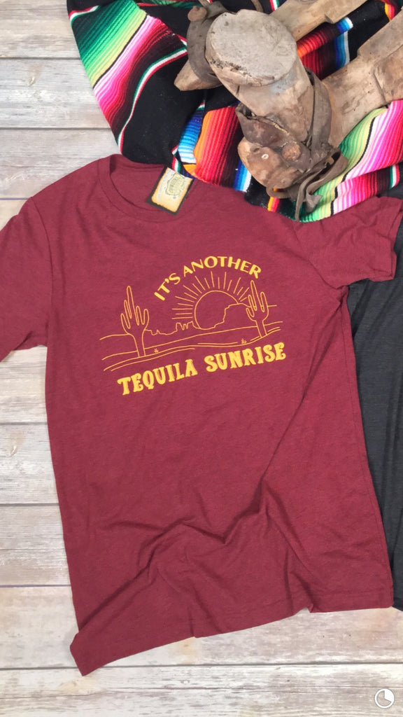 Tequila Sunrise Unisex Triblend Tee in Cardinal