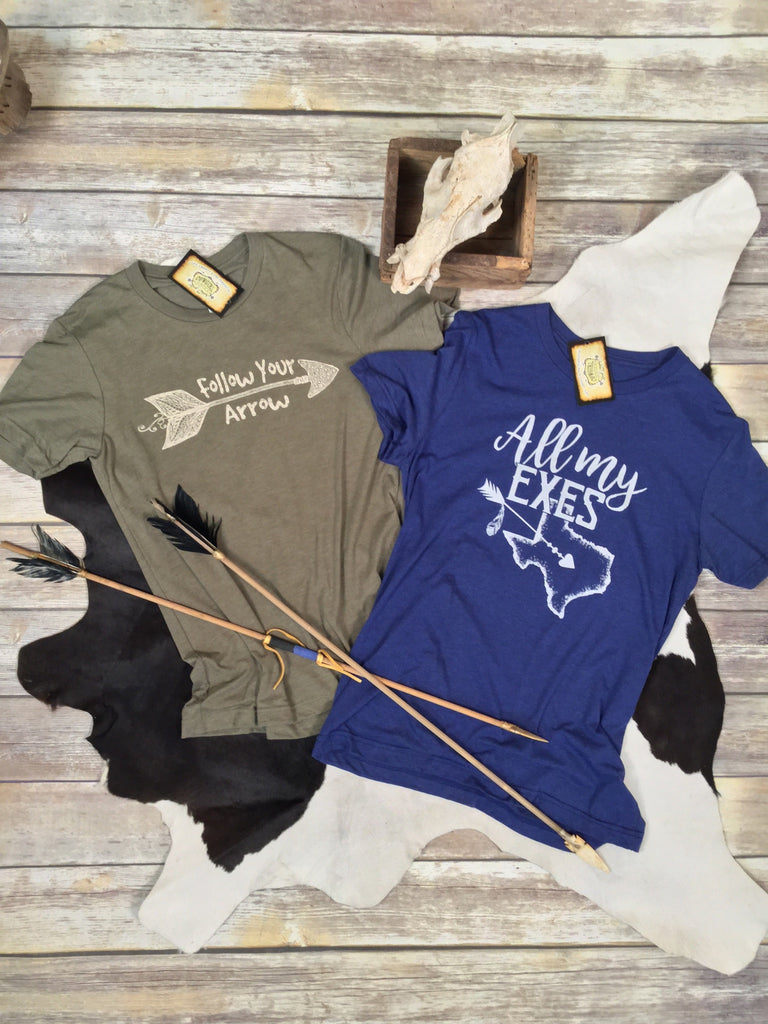 Follow Your Arrow Tee in Olive Unisex Triblend