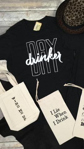 Day Drinker Triblend Unisex Tee in Charcoal Black