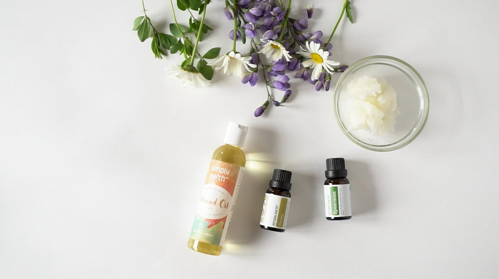 How to Make Homemade Body Butter with Essential Oils, Homemade Body Butter, How to Make Body Butter, Coconut Oil, Almond Oil, Spearmint Essential Oil, Sleepy Essential Oil Blend