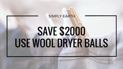 Simply Earth Save $2000 Use Dryer Balls