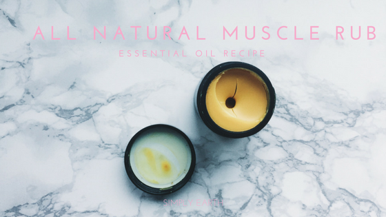 all natural muscle rub recipe