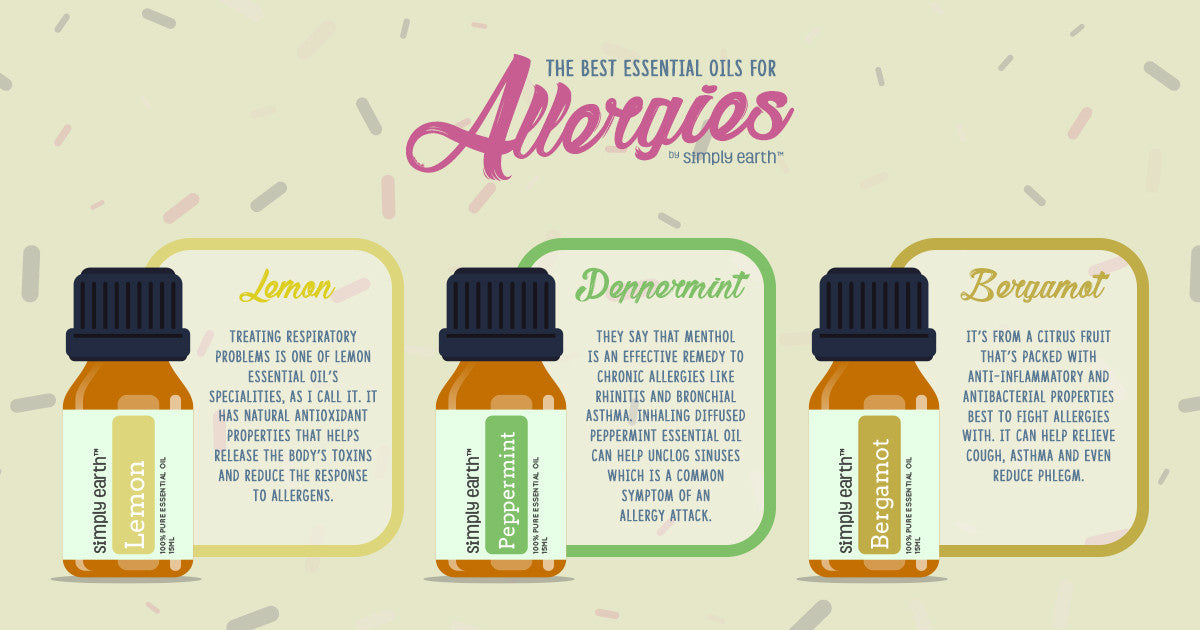 best essential oils for allergies infographic