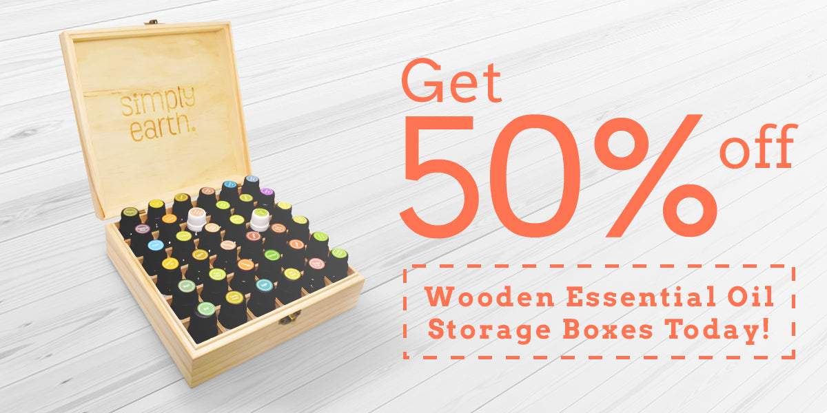 Simply Earth Essential Oil Wooden Storage Box