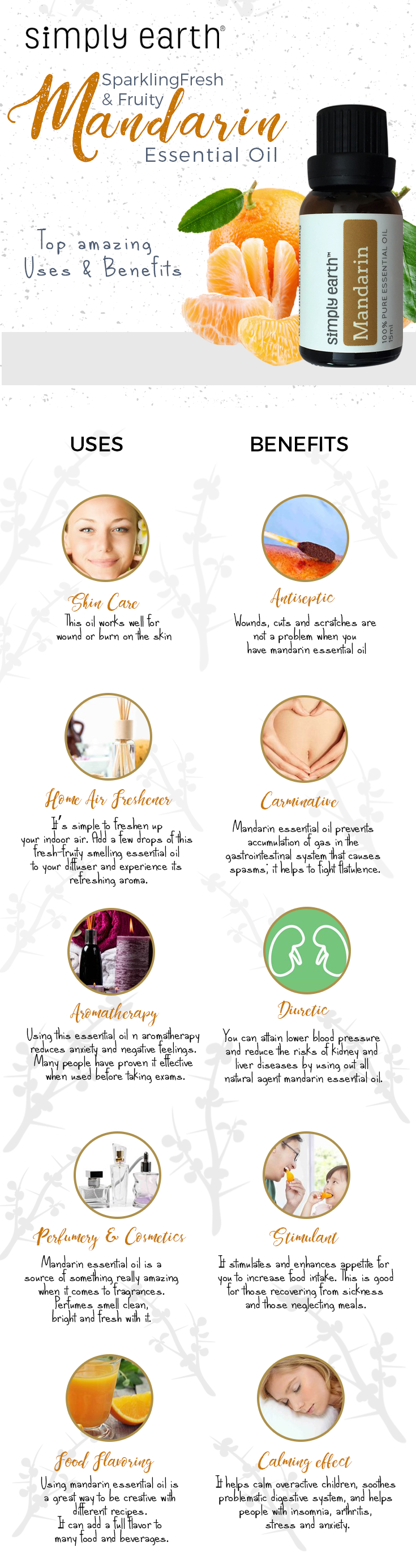 mandarin essential oil uses and benefits
