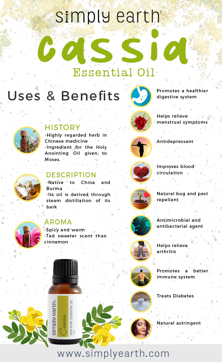 simply earth cassia essential oil