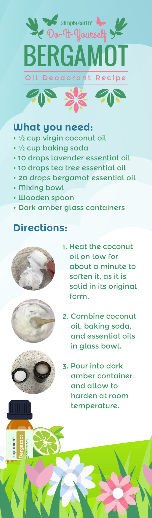 DIY deodorant recipe infographic