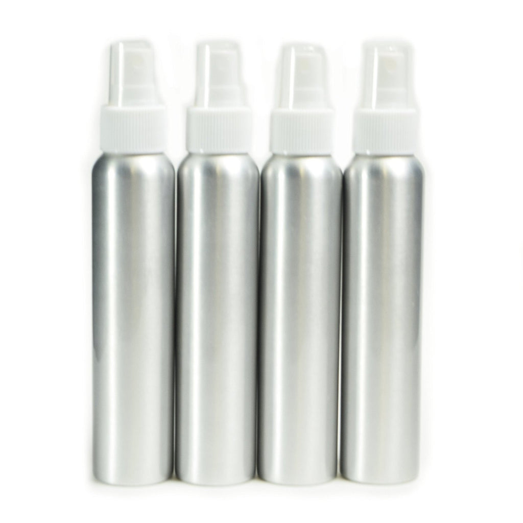4 pack aluminum fine mist spray bottles