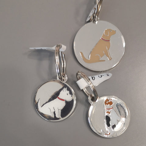 Dog tag keyrings from Attic