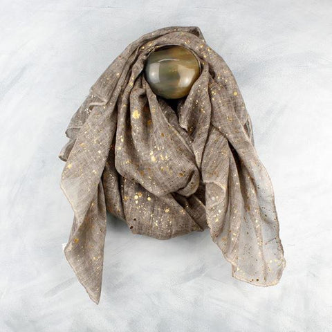 Metallic scarf from the Attic Store gold