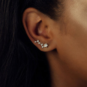 Sterling Silver Constellation Ear Cuffs - NuNu Jewellery