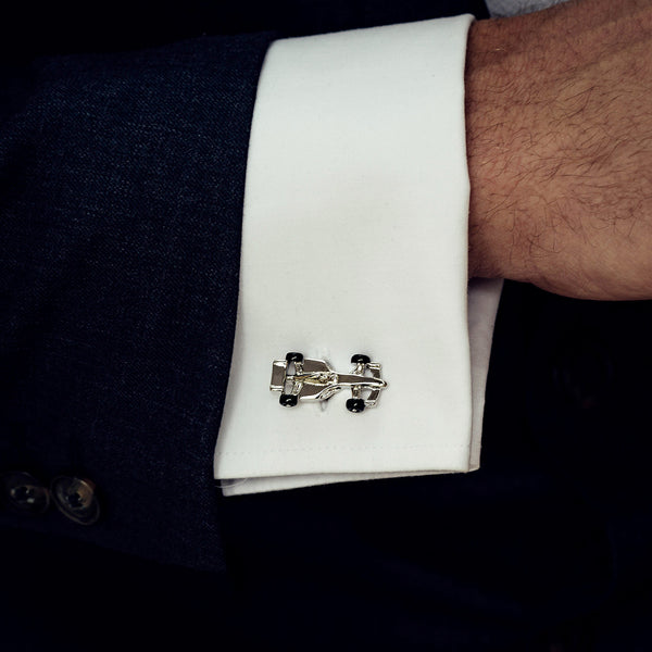 F1 racing car personalised cufflinks