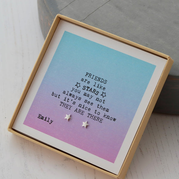 Design Your Own 'Friends Are Stars' Jewellery Gift