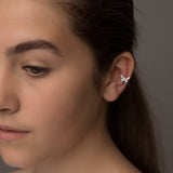 Sterling Silver Single Butterfly Ear Cuff - NuNu Jewellery