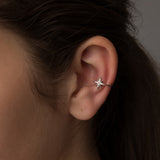 Sterling Silver Single Star Ear Cuff - sterling silver NuNu jewellery