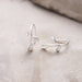 sterling silver olive leaf hook earrings silver