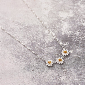 Silver Daisy Chain Necklace - NuNu Jewellery