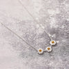 sterling silver daisy chain flower necklace