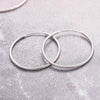 silver ear hoops-medium