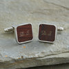 Personalised Mahogany Cufflinks - NuNu Jewellery