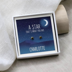 Sterling Silver 'You Are A Star' Star Earrings - NuNu Jewellery