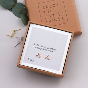'Life Is A Journey' Bicycle Earrings - sterling silver NuNu jewellery