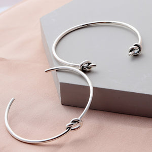 Sterling Silver Friendship Knot Bangle - NuNu Jewellery