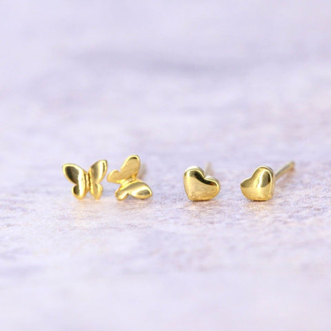 gold tiny earrings
