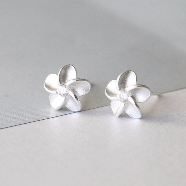 sterling silver forget me not earrings