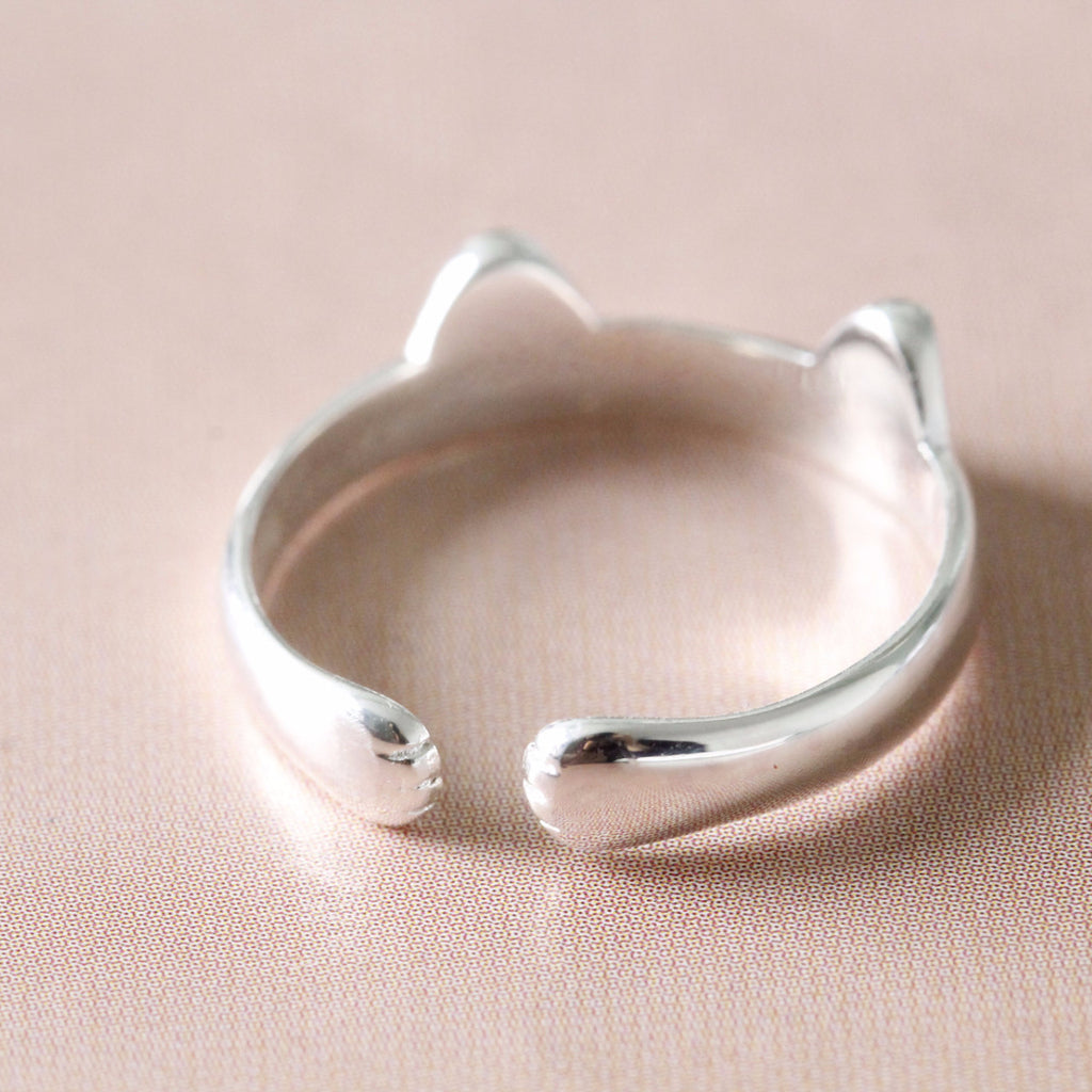 kittenup marketplace paws ears fashion cute yourself silver s cat open plated paw products claw end ring rings treat jewelry