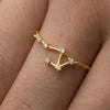 Constellation Star Sign Ring - sterling silver NuNu jewellery