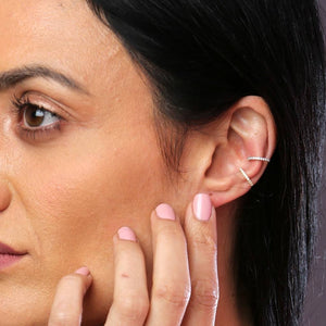 Set Of Two Crystal Ear Cuffs - NuNu Jewellery