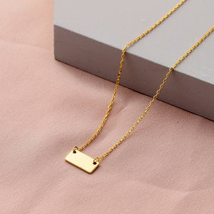 Golden Tag Necklace - sterling silver NuNu jewellery