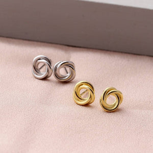 Entwined Circle Earring Studs - sterling silver NuNu jewellery