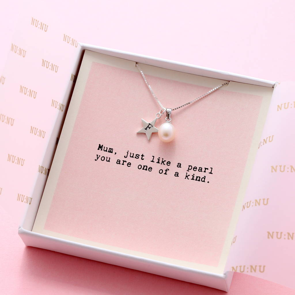 Mum You're One Of A Kind Personalised Pearl Necklace