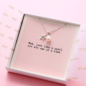 Mum You're One Of A Kind Personalised Pearl Necklace - NuNu Jewellery