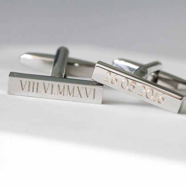 Personalised Special Date Cufflinks