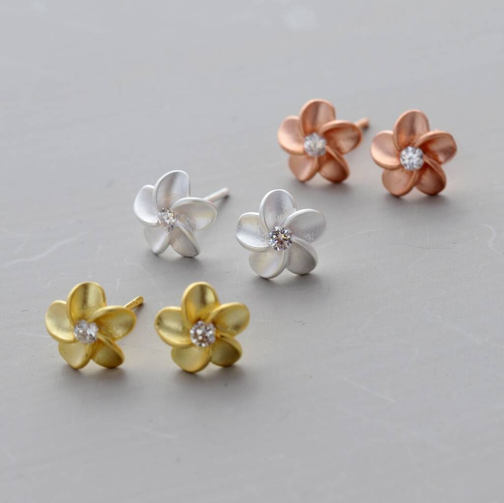 Silver Forget Me Not Flower Ear Studs