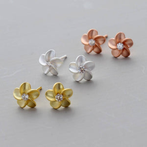 Silver Forget Me Not Flower Ear Studs - NuNu Jewellery