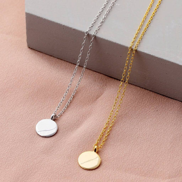 Sterling Silver Mini Disc Necklace