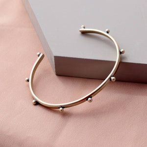 Sterling Silver Punk Edge Bangle - NuNu Jewellery