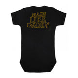 Made Like Daddy - Yellow print Onesie