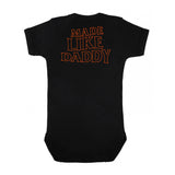 Made Like Daddy - Orange print Onesie