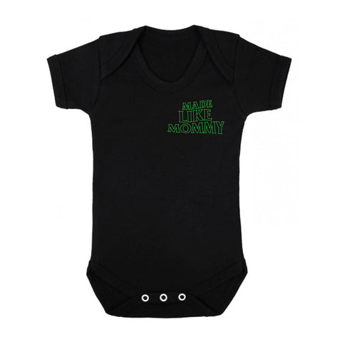 Made Like Mommy - Green print Onesie