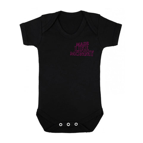 Made Like Mommy - Pink print Onesie
