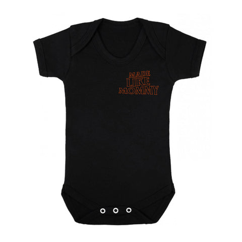 Made Like Mommy -  Orange print Onesie
